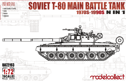 Picture of Soviet T-80 Main Battle Tank 1970S-1990S N in 1